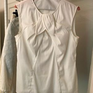 White Prada sleeveless top